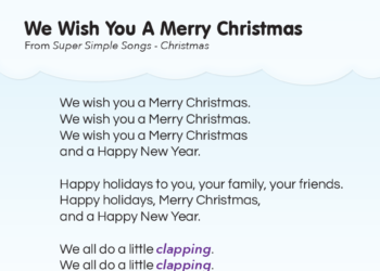 picture relating to Lyrics to We Wish You a Merry Christmas Printable called Tune Lyrics - Tremendous Straightforward