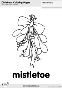 mistletoe coloring page - Mistletoe Coloring Pages