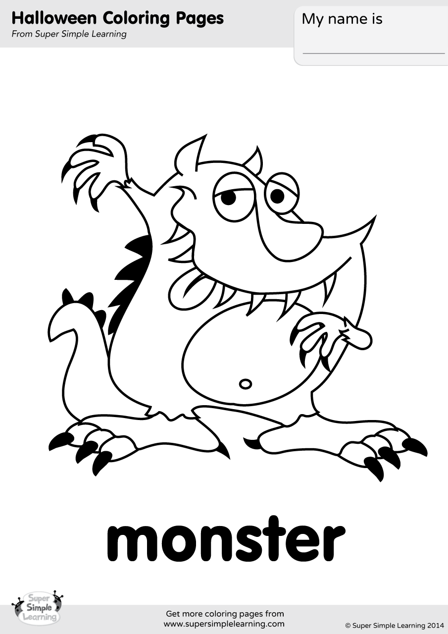 Monster Coloring Page | Super Simple