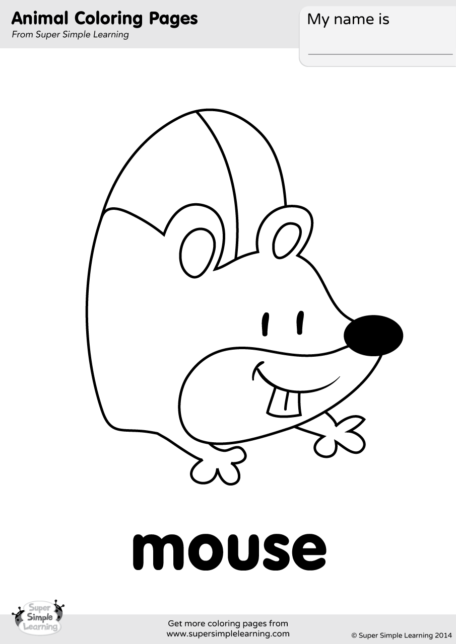 Mouse Coloring Page | Super Simple
