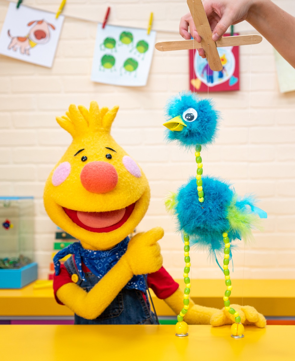 Ostrich Marionette - Fifi from Sing Along With Tobee!