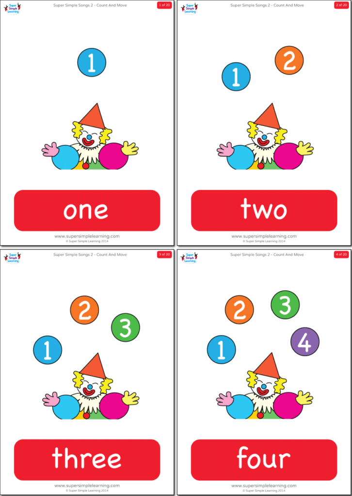 graphic about Printable Numbers Flashcards called Quantities 1-20 Flashcards - Tremendous Uncomplicated
