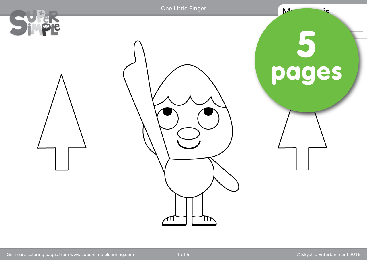 One Little Finger Coloring Pages