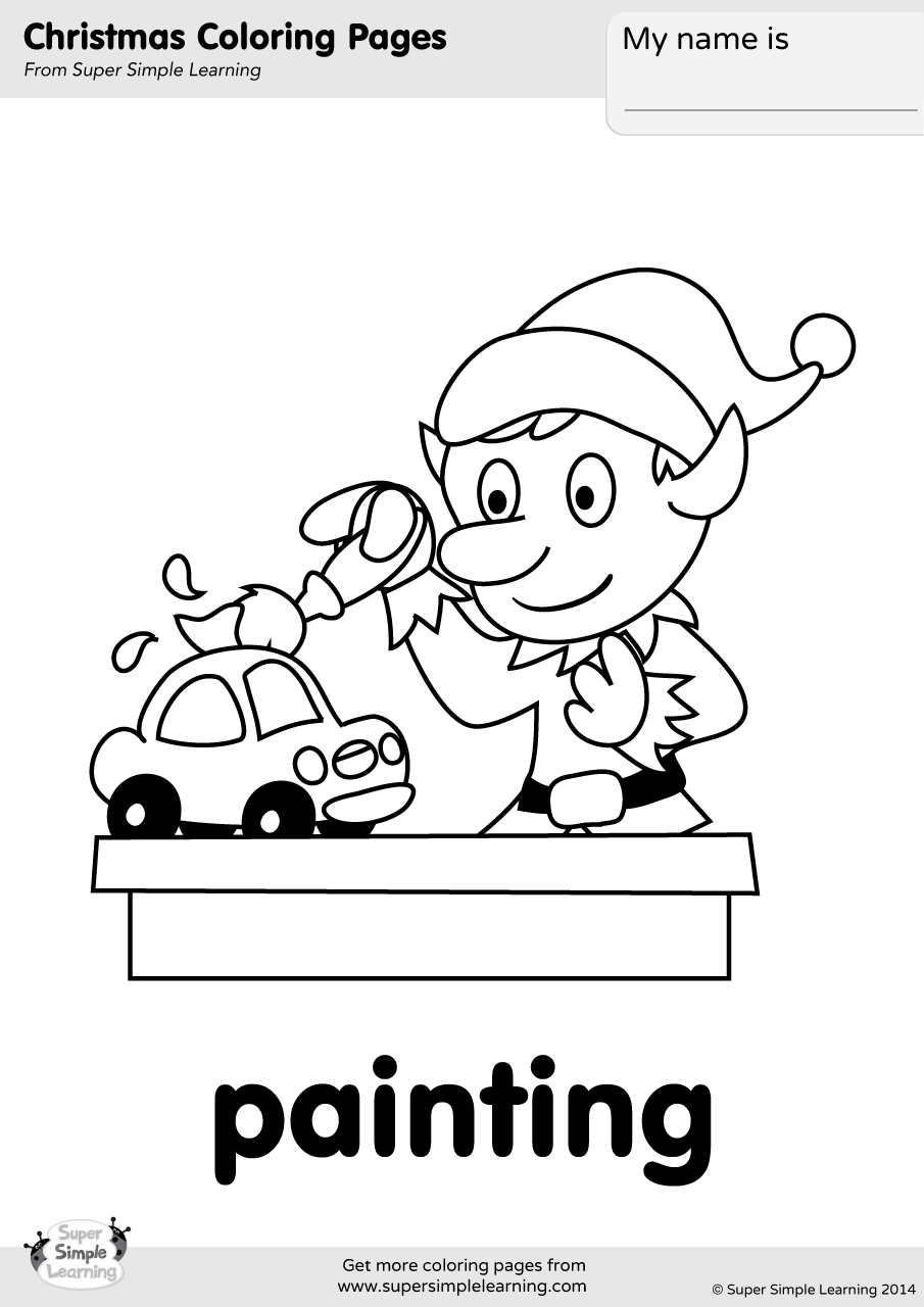 Painting Coloring Page | Super Simple