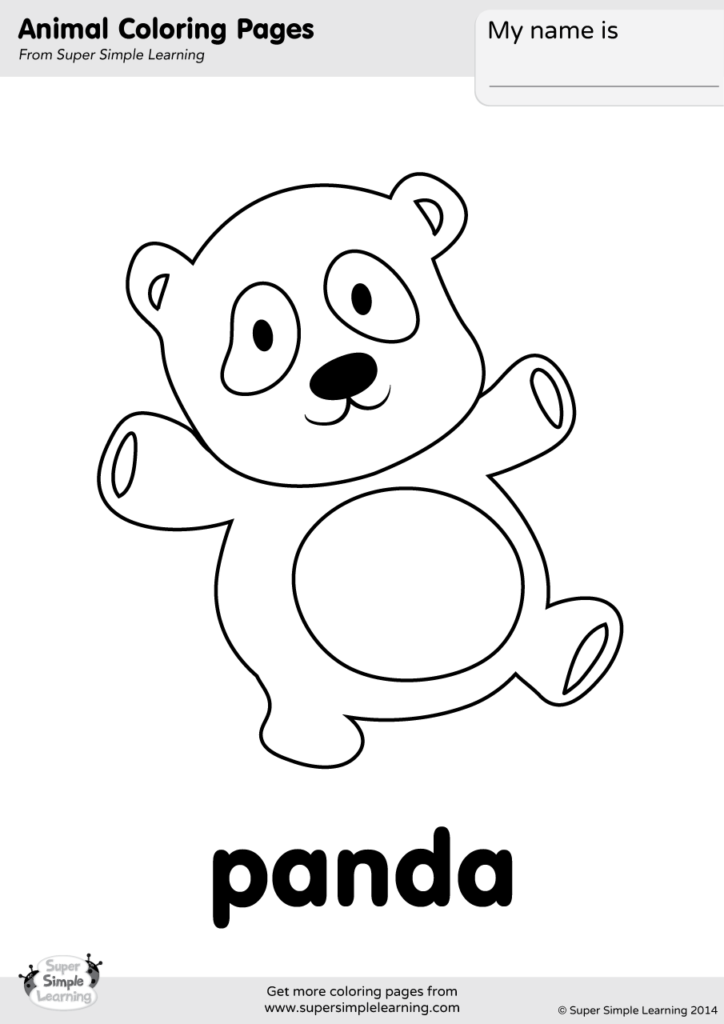 Panda Coloring Page - Super Simple