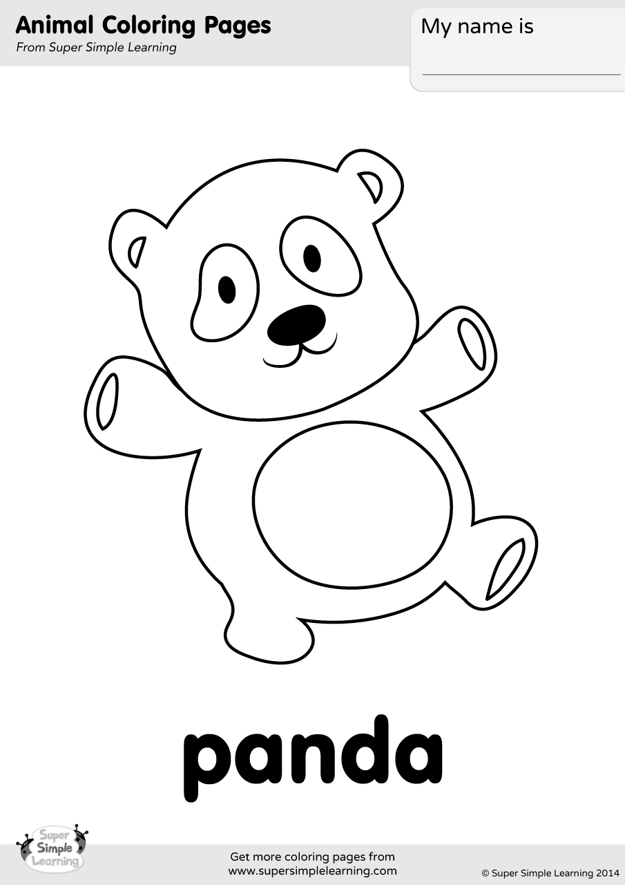 Panda Coloring Page Super Simple