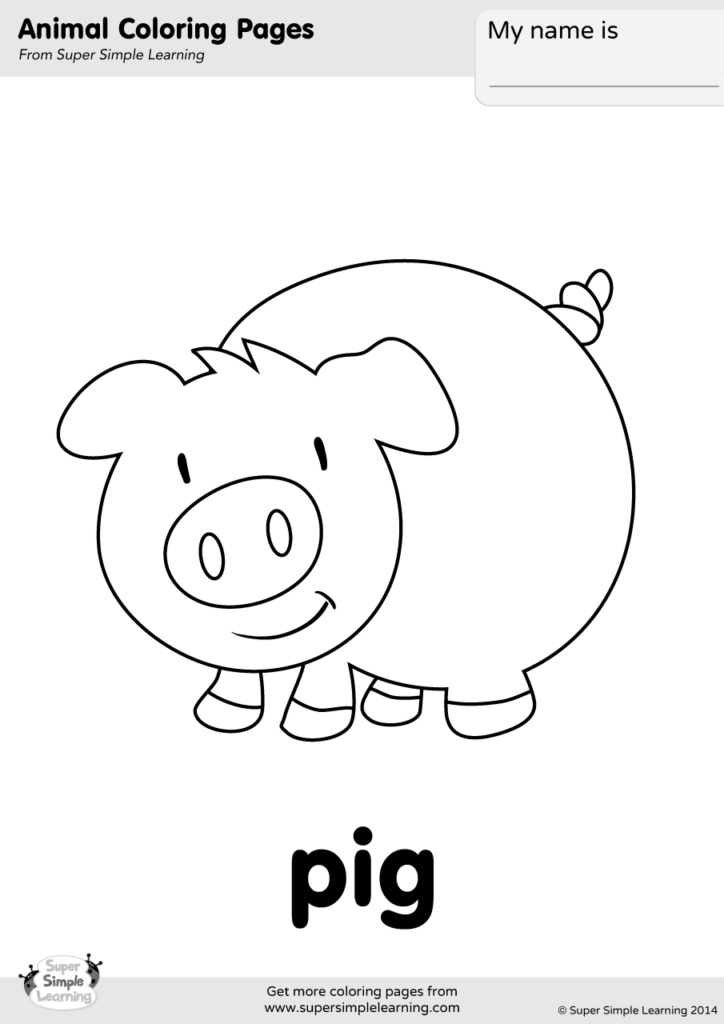 6800 Coloring Pages Of Animals Pigs , Free HD Download