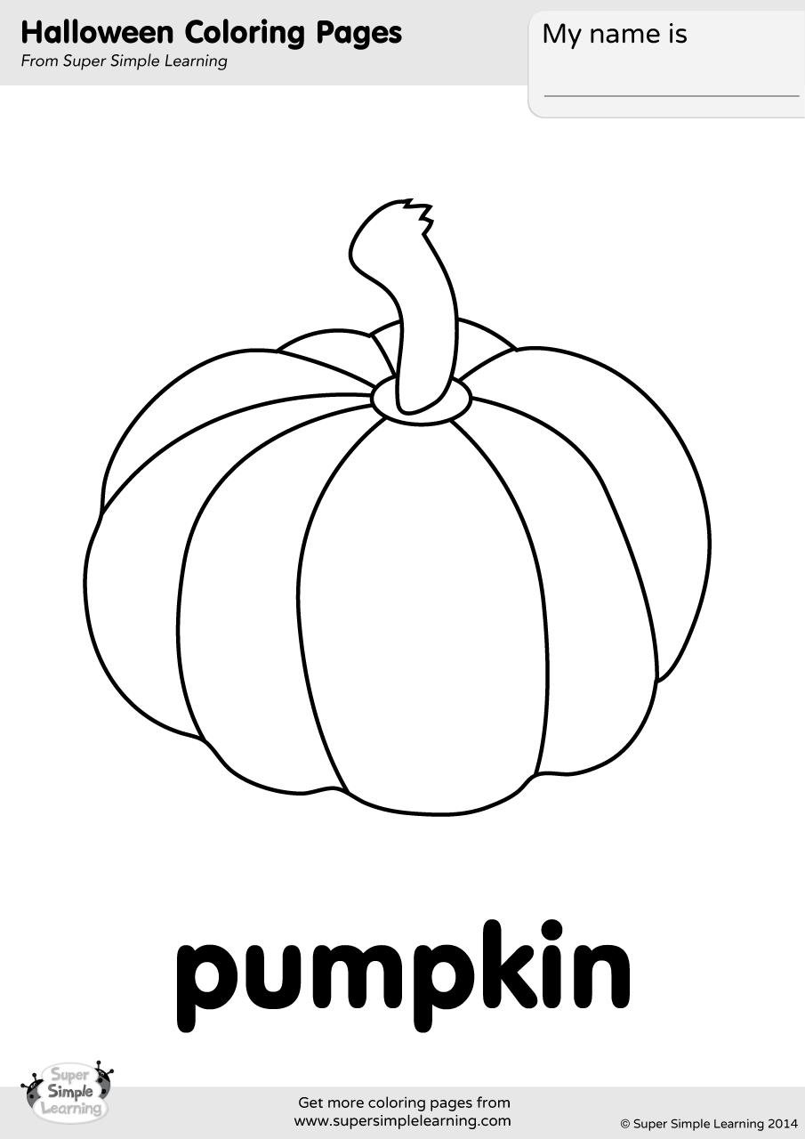 Pumpkin Coloring Page - Super Simple