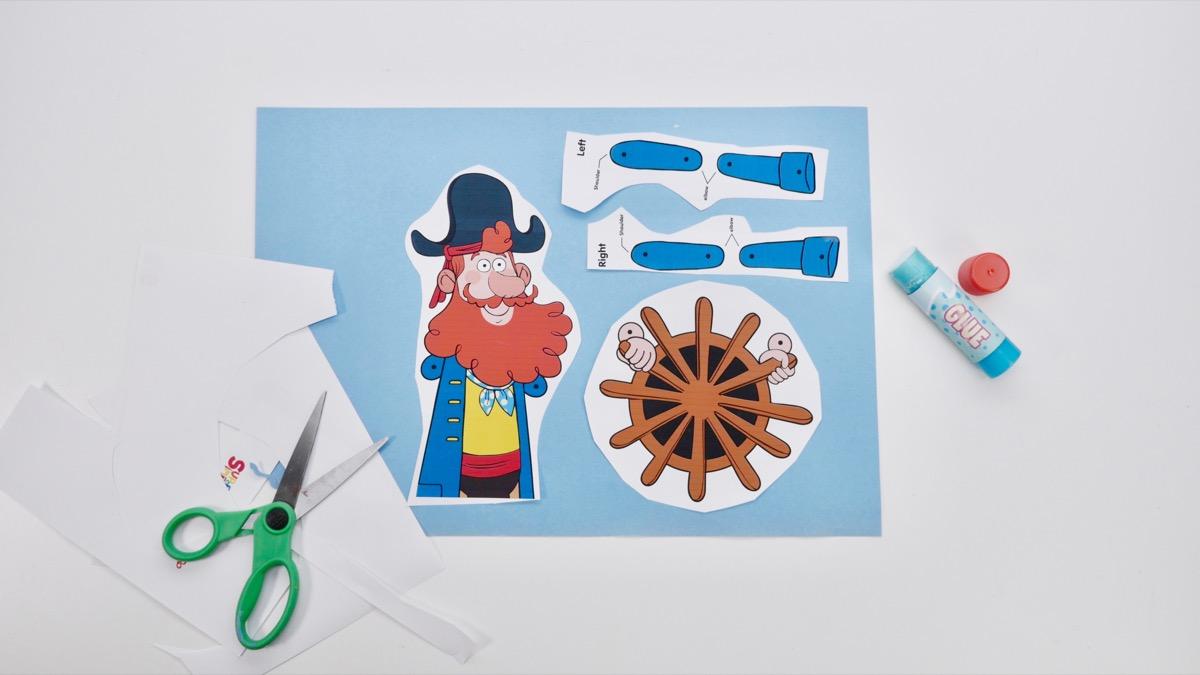 Captain Seasalt Puppet - on board