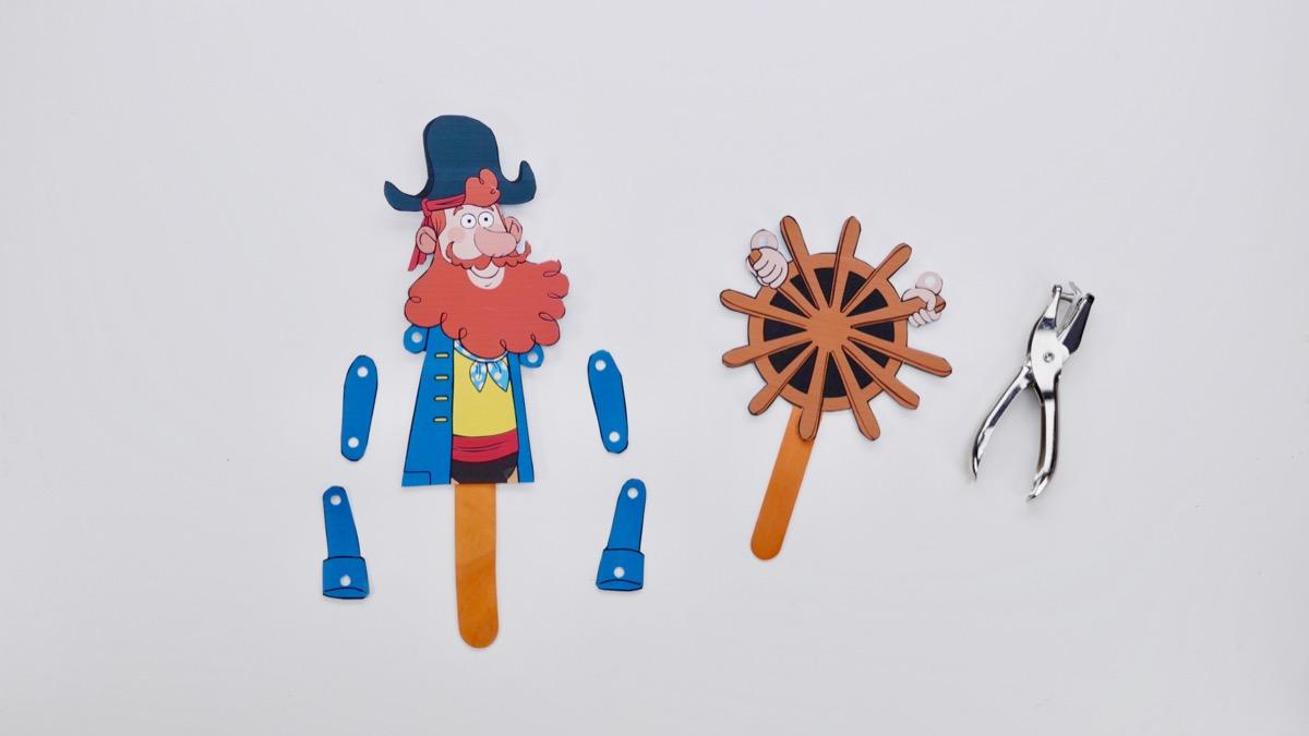 Captain Seasalt Puppet - pieces