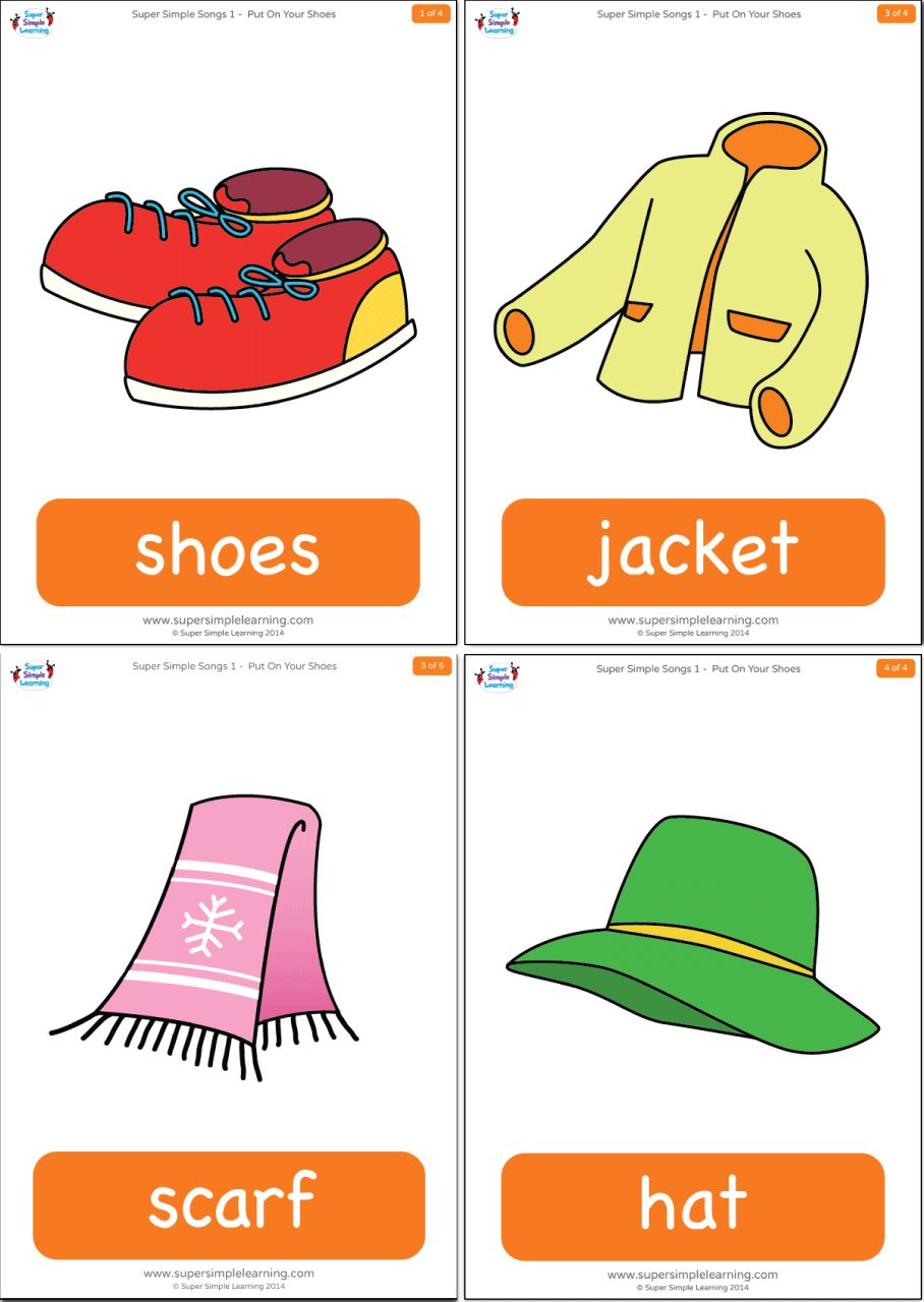 Put On Your Shoes Flashcards