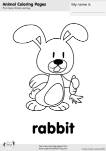 Rabbit Coloring Page | Super Simple