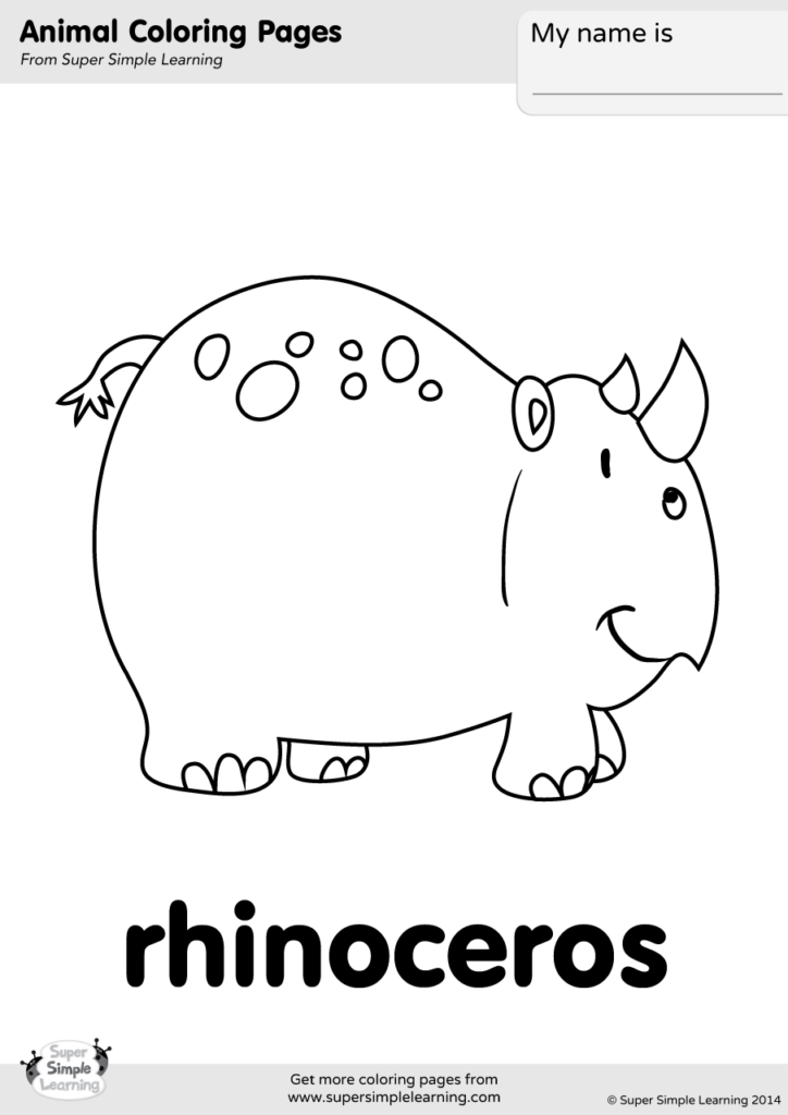 Rhino coloring pages | Free Coloring Pages | 1024x724