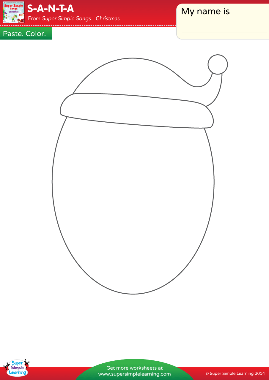 S A N T A Worksheet Make A Santa Face Super Simple