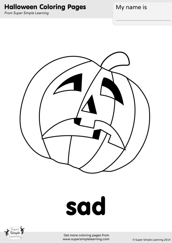 Sad Coloring Page Super Simple
