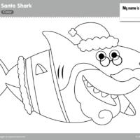 Santa Shark Coloring Page