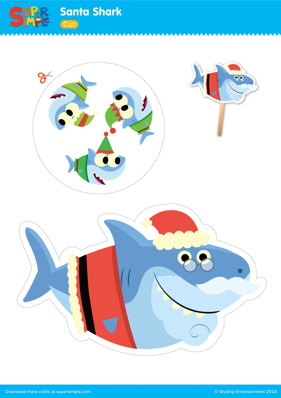 Santa Shark Play Set Super Simple