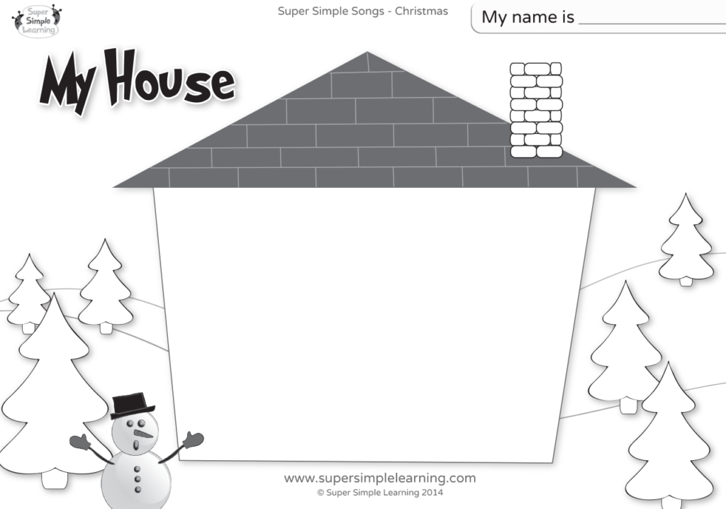 Santa Where Are You Worksheet My House Super Simple