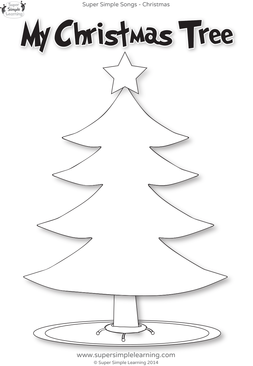 Santa, Where Are You? Worksheet – My Christmas Tree | Super Simple
