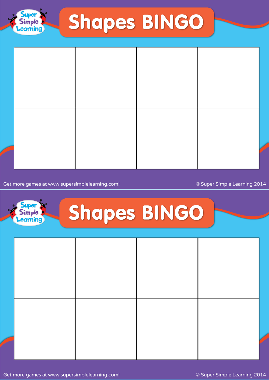 Make Your Own Shapes Bingo Super Simple