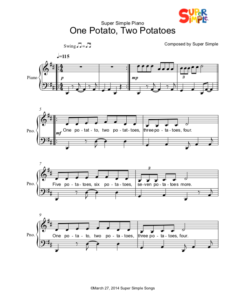 One Potato, Two Potatoes - Sheet Music