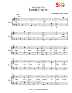 Sweet Dreams - Sheet Music