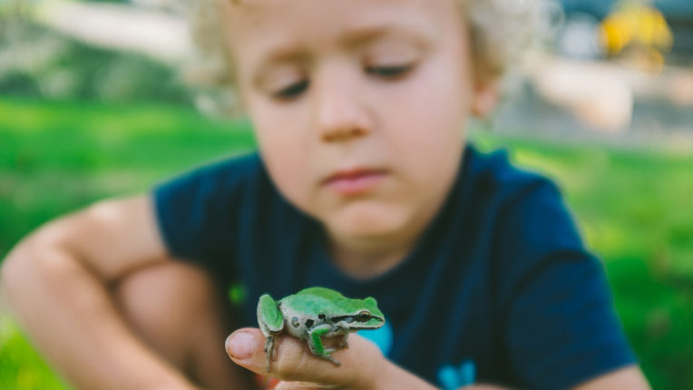 Child with Frog