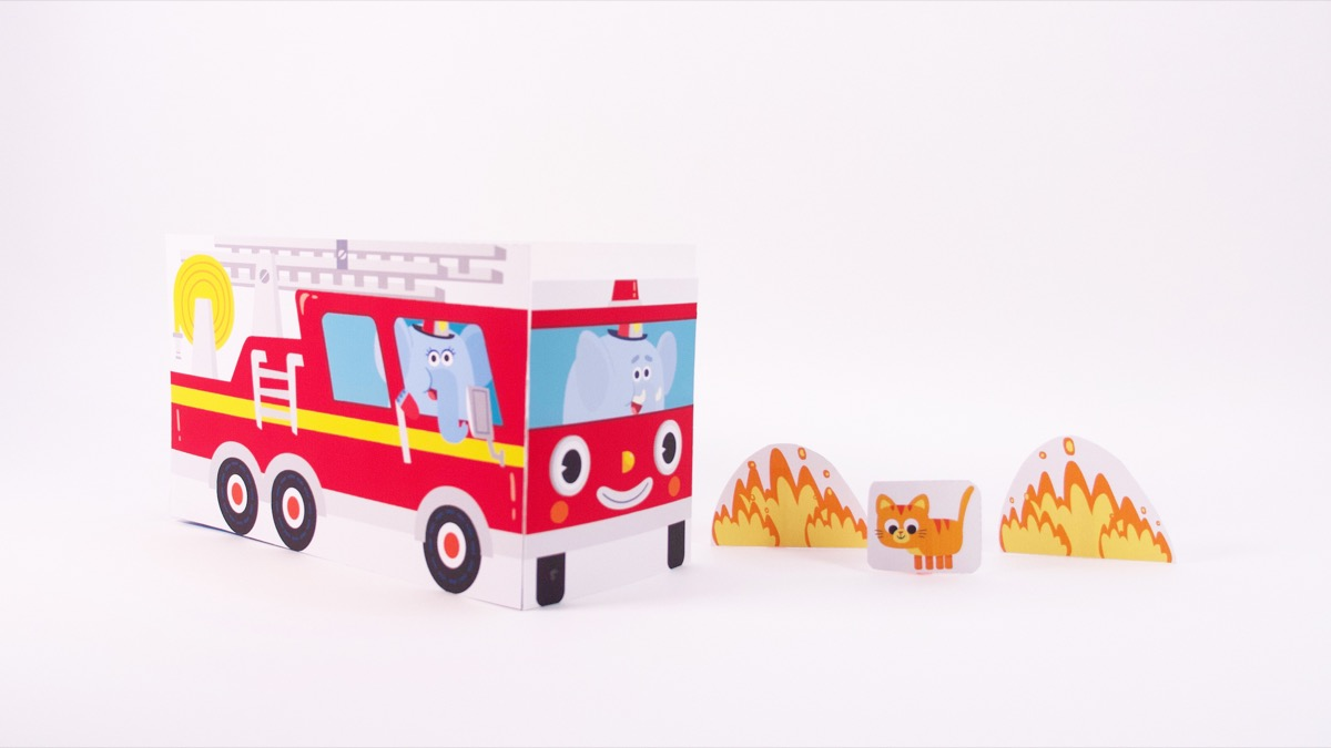 Here Comes The Fire Truck Play Set Craft Super Simple