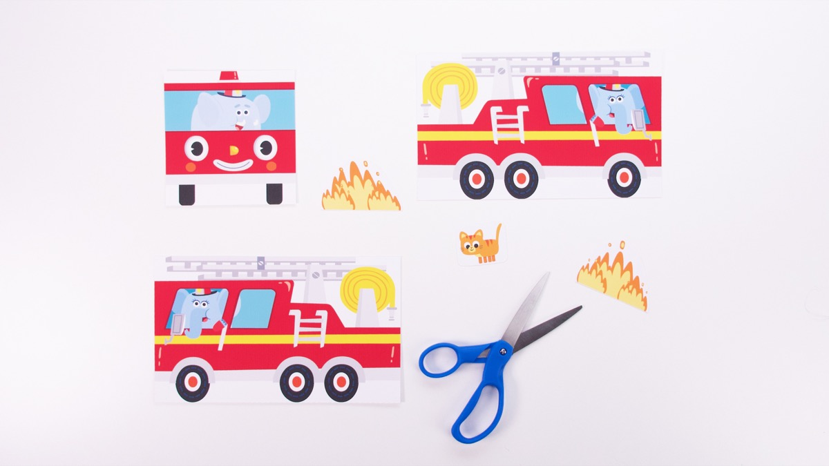 Fire Truck Play Set Craft - Simple Version