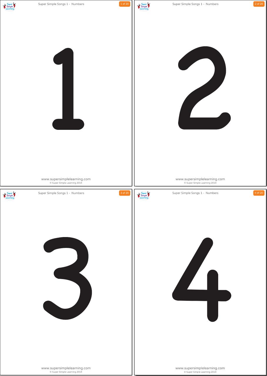 Simple Numbers 1 20 Flashcards Super Simple