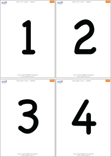 image regarding Printable Number Flashcards known as Uncomplicated Quantities 1-20 Flashcards - Tremendous Very simple