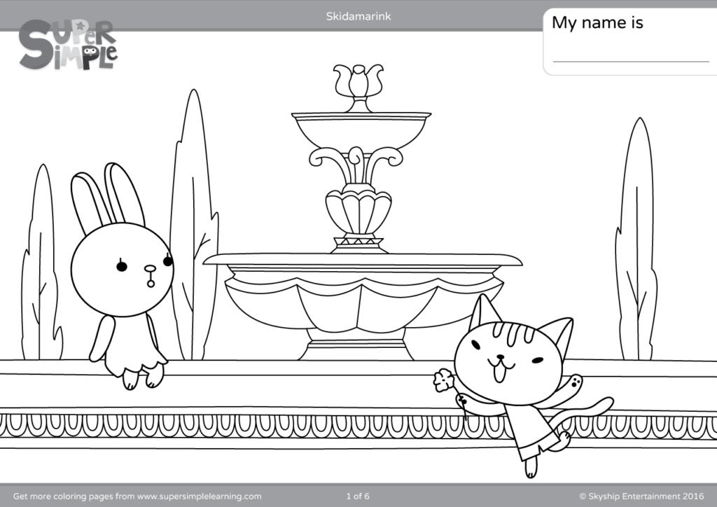Skidamarink Coloring Pages Super Simple
