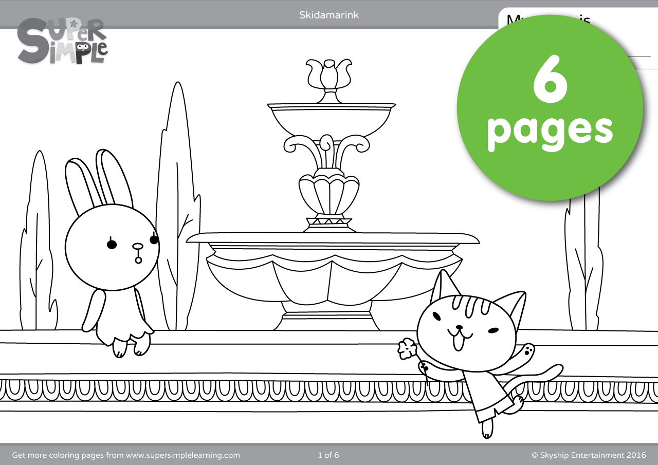 Skidamarink Coloring Pages Super Simple