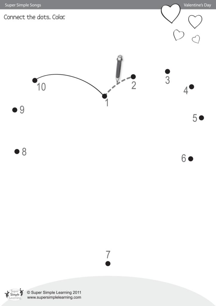 Skidamarink Worksheet - Connect The Dots - Super Simple