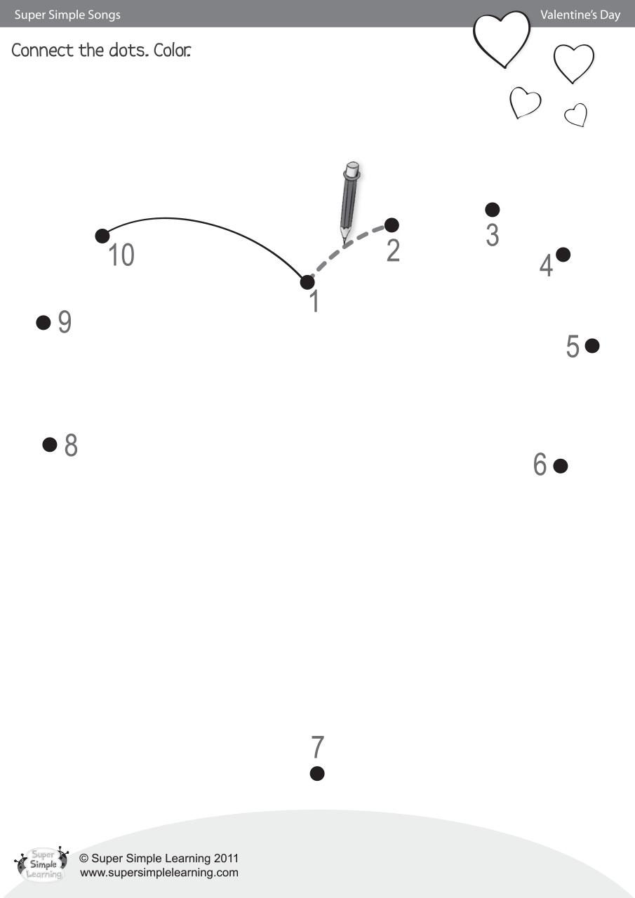 Skidamarink Worksheet Connect The Dots Super Simple