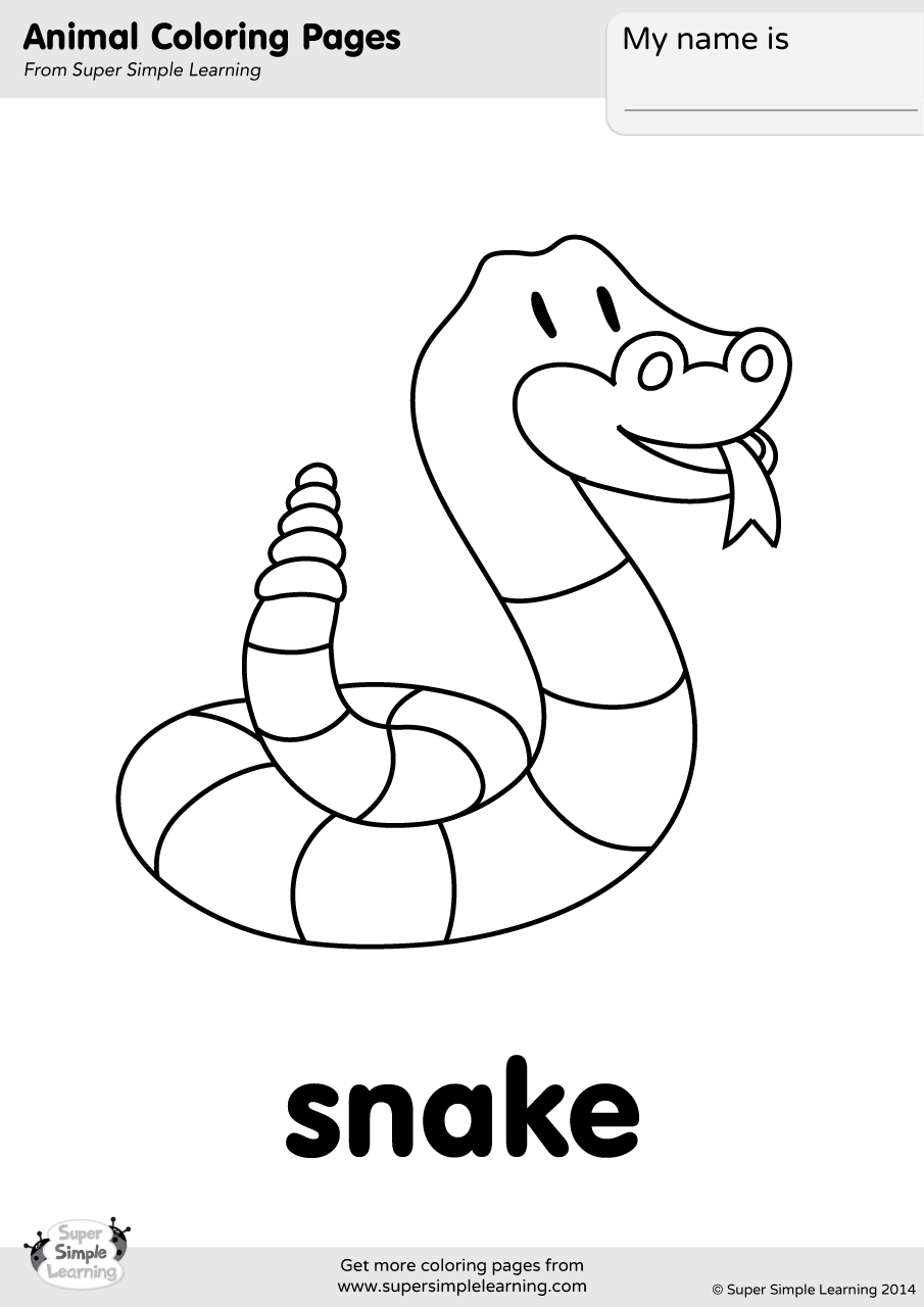 Snake Coloring Page | Super Simple