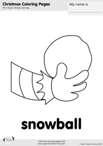 snowball coloring page