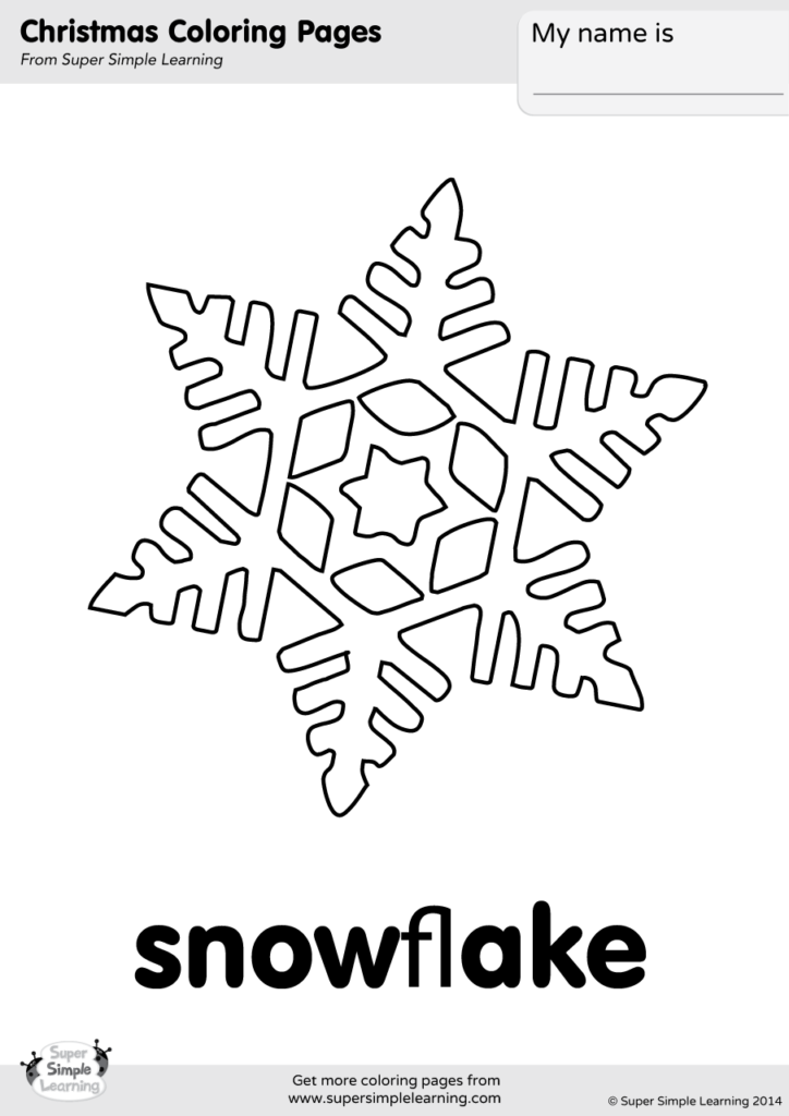 Snowflake Coloring Page Super Simple