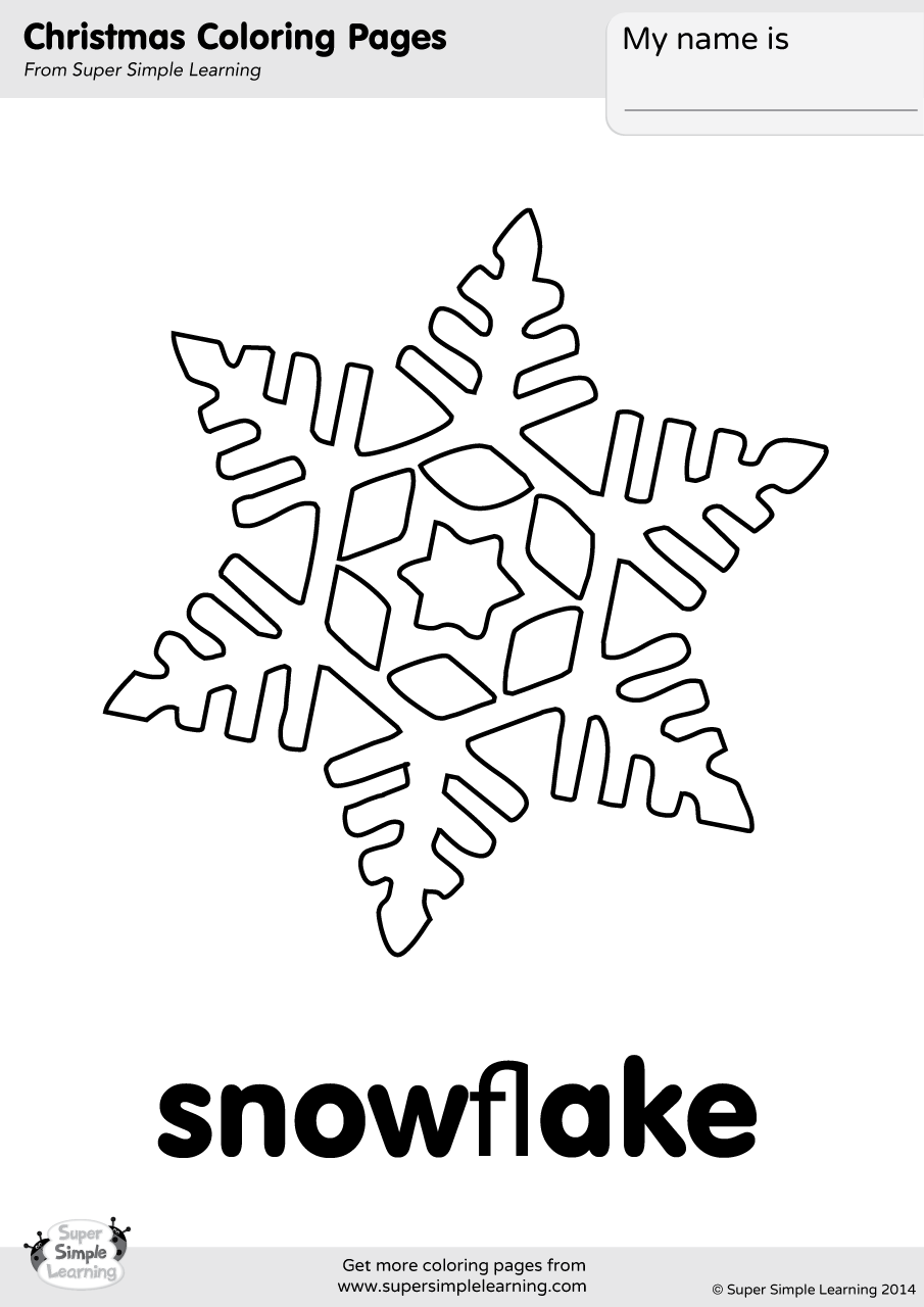 Snowflake Coloring Page - Super Simple