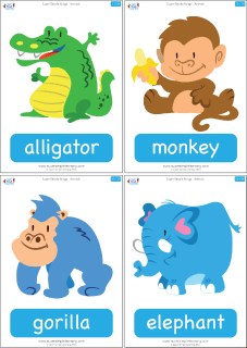 super simple songs � animals � complete flashcards super