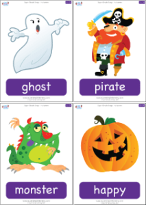 super simple songs halloween complete flashcards