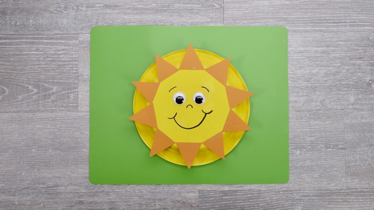Sun & Moon Craft - Finished Sun
