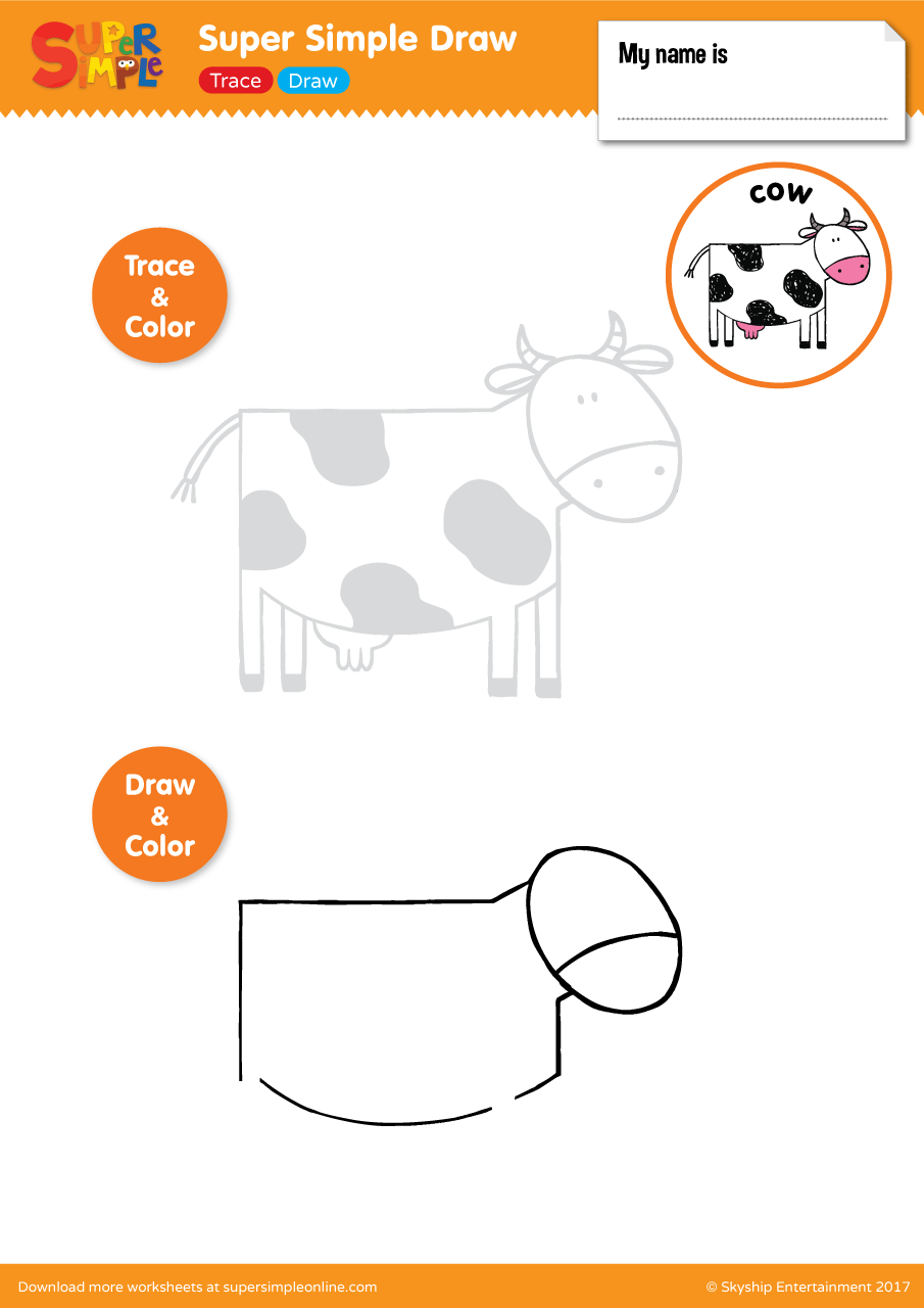 Super Simple Draw Cow Super Simple