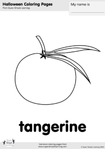 tangerine coloring pages | Tangerine Coloring Page | Super Simple