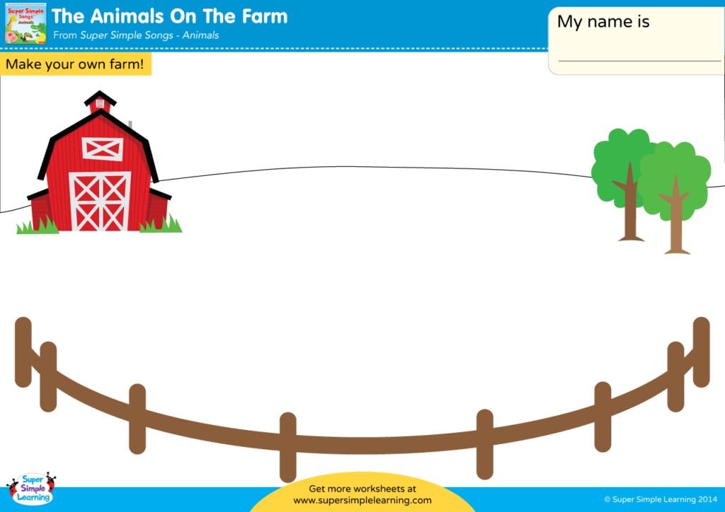 The Animals On The Farm Worksheet - Make Your Own Farm - Super Simple
