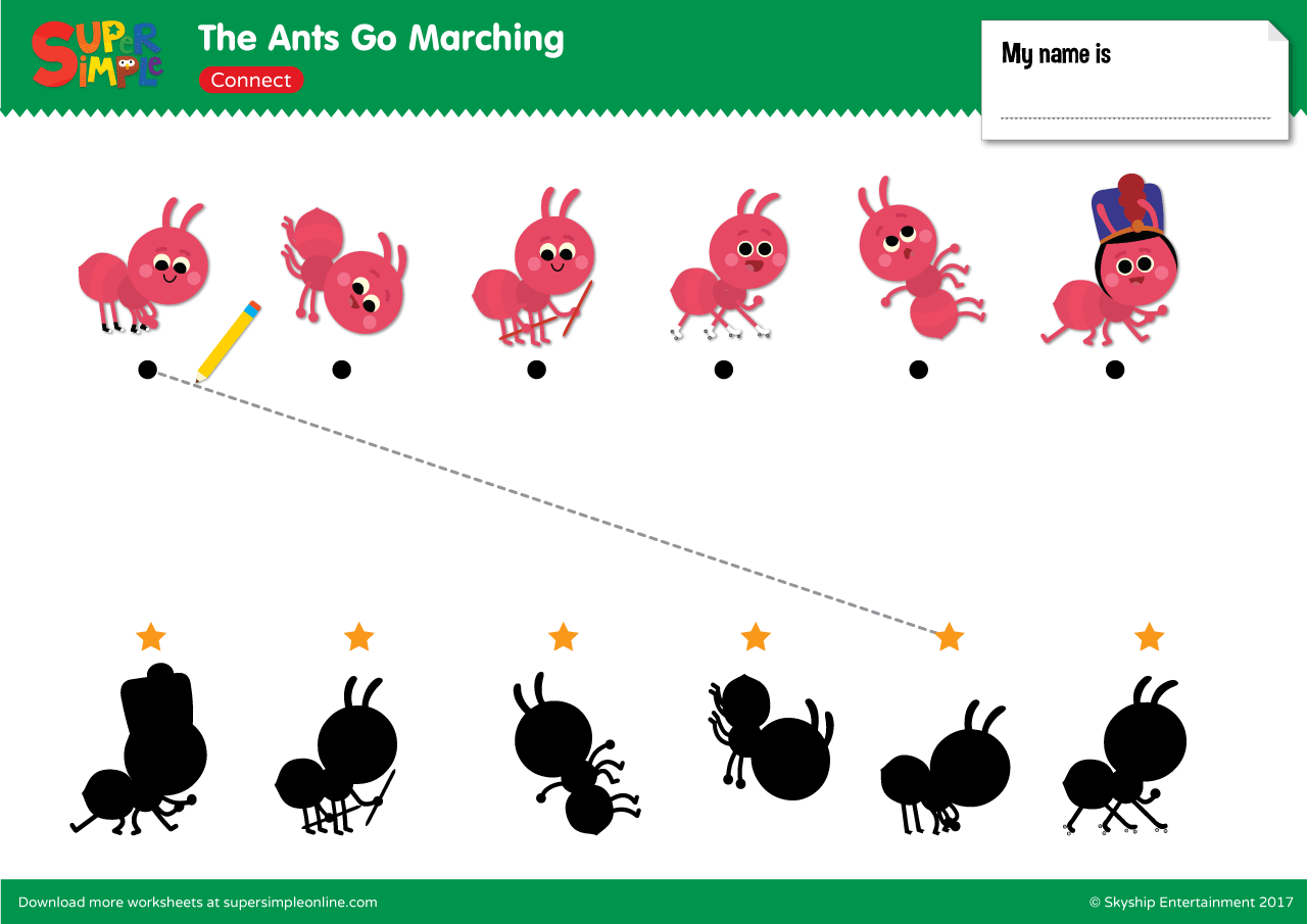 The Ants Go Marching Connect Super Simple