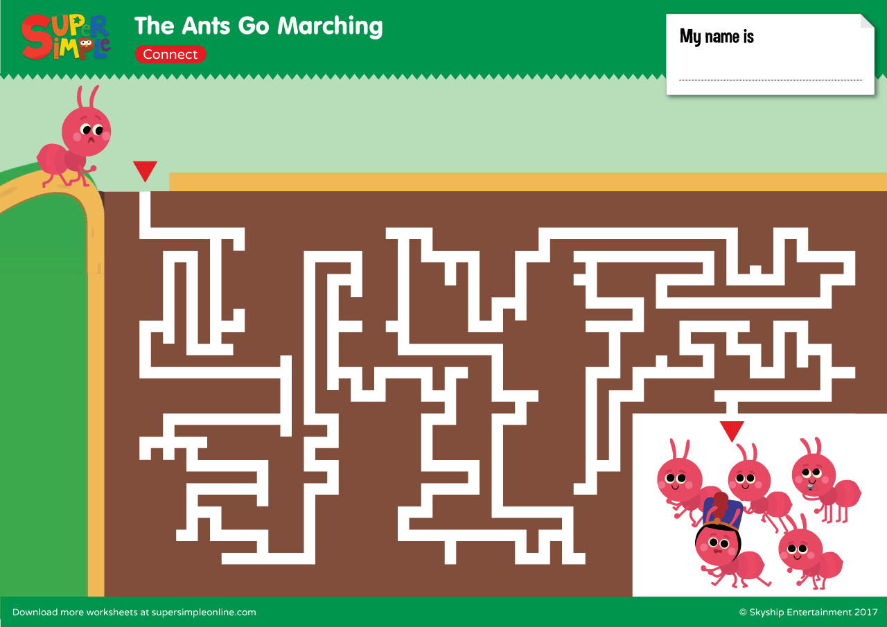 The Ants Go Marching Maze Super Simple