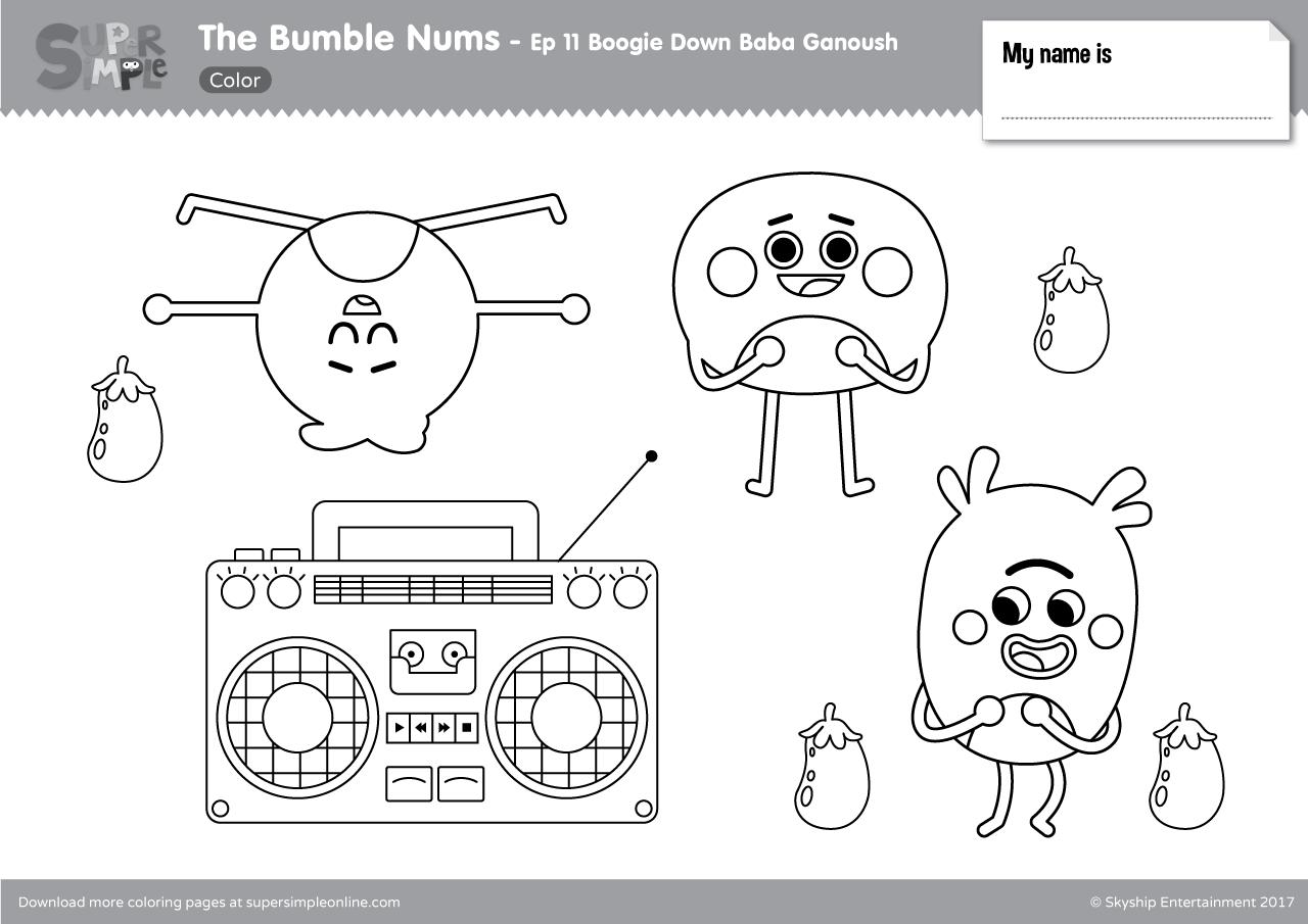 the bumble nums episode 11 boogie down baba ganoush super simple. Black Bedroom Furniture Sets. Home Design Ideas
