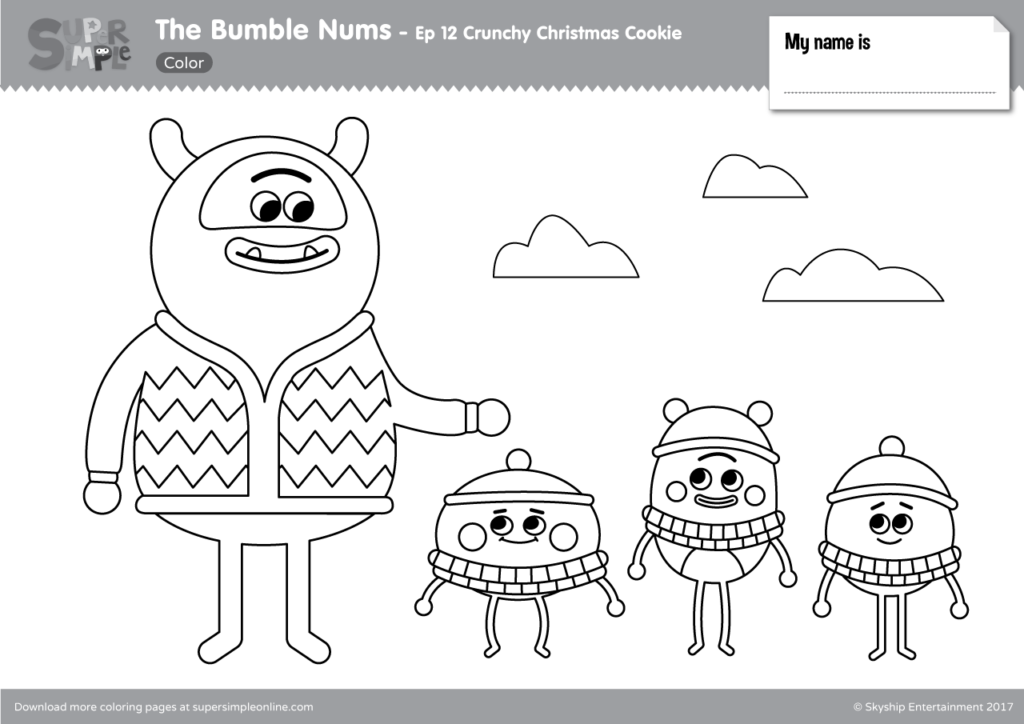 The Bumble Nums Episode 12 Crunchy Christmas Cookie Super Simple