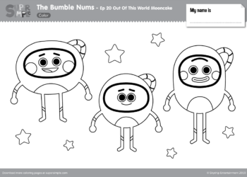 Out Of This World Mooncakes Coloring Page Thumbnail